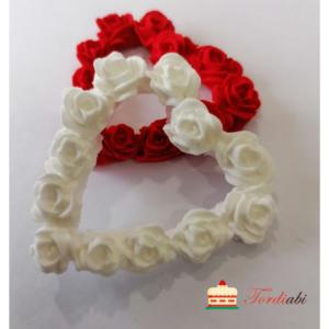 Tordiabi euhkrudekoor roosidest valge süda