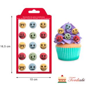 Tordiabi suhkrudekoor emotikonid
