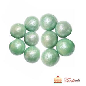 Tordiabi suured pärlmutter šokolaadipallid helerohelised