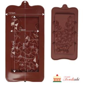 Tordiabi marmor shokolaadi tahvli vorm