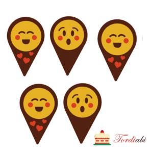 Tordiabi šokolaadist emotikonid muffinitele 5 tk