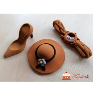 Tordiabi suhkrudekoor daami komplekt kübar, king, käekell
