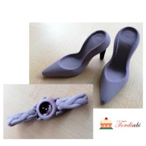 Tordiabi suhkrudekoor daami komplekt lillad kingad ja käekell