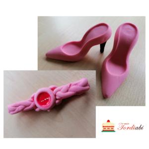 Tordiabi suhkrudekoor daami komplekt roosad kingad ja käekell
