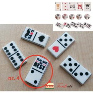 Tordiabi suhkrudekoor mängurile domino klots nr 4