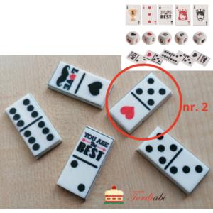 Tordiabi suhkrudekoor mängurile domino klots nr. 2