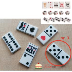Tordiabi suhkrudekoor mängurile domino klots nr. 3