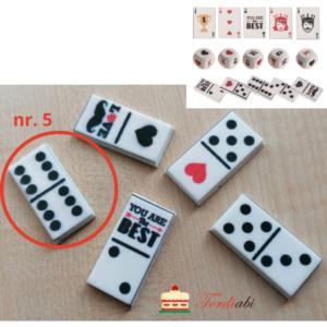 Tordiabi suhkrudekoor mängurile domino klots nr. 5