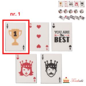 Tordiabi suhkrudekoor mängurile mängukaart nr 1 äss