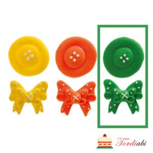 Tordiabi suhkrudekoor nööp ja lips roheline