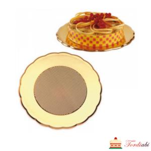 Tordiabi kuldne tordi serveerimise alus cateringi alus