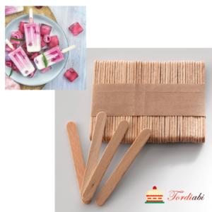 Tordiabi puidust pulgakoogi jäätise pulgad silikomart