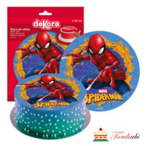 Tordiabi söödav vahvlipilt tordile Ämblikmees spiderman