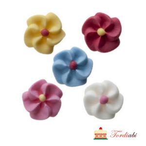 Tordiabi suhkrudekoor väikesed lilleõied pastelsed 5 tk