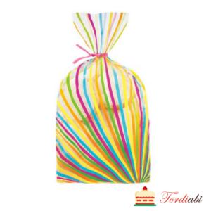 Tordiabi triibulised kotikesed maiustuste pakendamiseks 20 tk