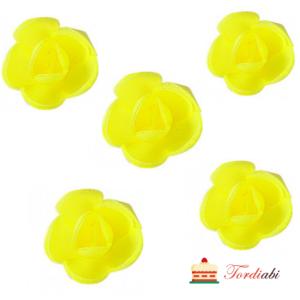 Tordiabi vahvlidekoor kollased roosid 3,5cm 5 tk