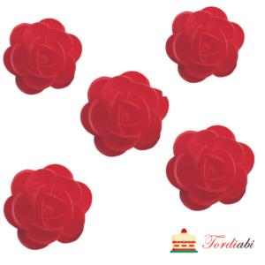 Tordiabi vahvlidekoor punased roosid 4,5 cm 5 tk
