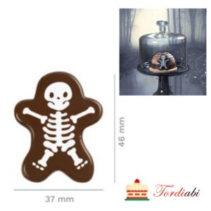 Tordiabi Halloweeni šokolaadidekoor luukere skelett