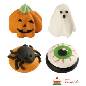 Tordiabi Halloweeni suhkrudekoorid kõrvits, ämblik, silm, vaim