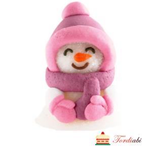 Tordiabi pehme suhkrudekoor lumememm roosa tutimütsiga