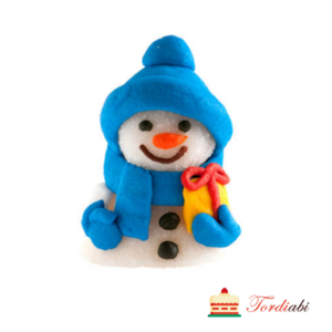 Tordiabi pehme suhkrudekoor lumememm sinise tutimütsiga