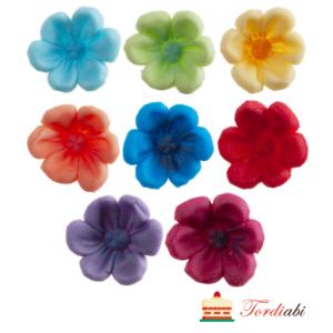 Tordiabi suhkrudekoor erksavärvilised lilleõied 8 tk