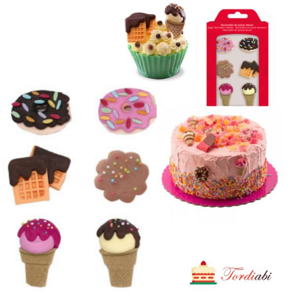 Tordiabi suhkrudekoorid maiustused jäätised muffinid