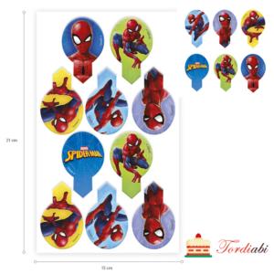 Tordiabi vahvlist Ämblikmees Spiderman muffini topperid