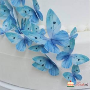 Tordiabi sinine liblikas vahvlidekoor