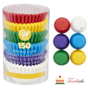 Tordiabi mini muffinivormid värvilised wilton