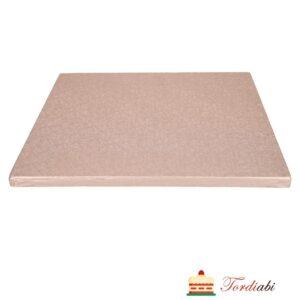 Tordiabi roosa kandiline tordialus 12 mm paksusega 30x30 cm