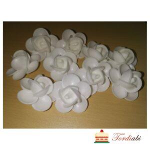 Tordiabi vahvlidekoor valged roosid keskmised